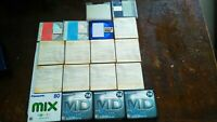 Lot of 18 md minidisk discs TDK Sony Panasonic sealed new old stock very rare