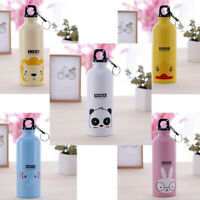 500ml Stainless Steel Water Bottle Outdoor Cute Animals Pattern Kids Sports Mugs