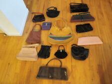Vintage Purse Pocketbook 14pc Lot Varied Styles and Materials Handbag   F