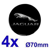 Jaguar 1 Satz 4Stk. Felgendeckel Nabendeckel Radzierblenden Aufkleber 70mm