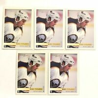 Lot 5 1994-95 Topps Premier Buffalo Sabres Hockey Card #29 Denis Tsygurov Rookie
