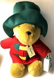 """Vintage Paddington Bear Plush with Gift 1994 Christmas 18"""" Sears Kids"""