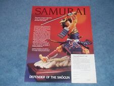 1990 Franklin Mint Samurai Defender if the Sh�gun Vintage Ad