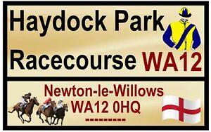 Équitation Route Plaques (Haydock Park) - Souvenir Nouveauté Frigo Aimant /