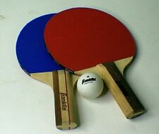 Pair of Franklin Table Tennis Ping Pong Paddles w/ One Ball Excellent a1