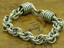 925 Bracciale Argento Sterling / Vero Argento/31,4g/18,5cm