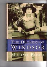 THE DUCHESS OF WINDSOR ~ Michael Bloch  ~ HARDCOVER D/J