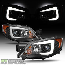 For Blk 2008-14 Subaru Impreza WRX [Halogen Model] LED DRL Projector Headlights