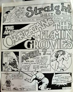 Charlatans & Flamin's Groovies - Straight Theater Vintage 1968 Psychedelic Flyer