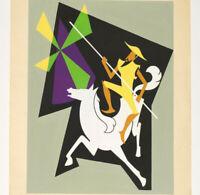 DON QUICHOTTE Graphisme A.G.I. Modernisme 1950 GOUACHE Proche PICART LEDOUX