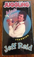 Juggling Made Easy Starring Jeff Reid Vhs 1998 Nib