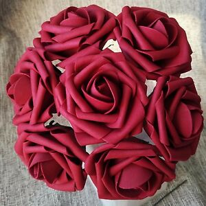100 Fake Flowers Artificial Roses 3 inch for Bouquet Wedding Table Centerpieces