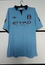 Manchester City 2012 - 2013 home football shirt jersey #12 CHAMPIONS size 46