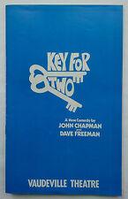 KEY FOR TWO.JOHN CHAPMAN.DAVE FREEMAN.PROGRAMME.8-9-82 VAUDEVILLE THEATRE STRAND