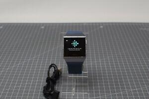 Fitbit Ionic Smart Watch - Silver Grey Pebble /Blue Strap - FIKE2