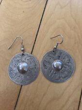 Native American Silver Earrings Vintage Western Dangle Earrings -