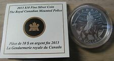 2013 Proof $10 O Canada-RCMP Royal Canadian Mounted Police .9999 silver COIN&COA