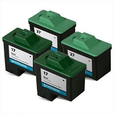 4 Lexmark 17 27 Ink Cartridge for Z601 Z602 Z603 Z605 Z611 Z614 Z645 Z647