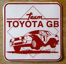 Team Toyota GB Celica Rally Motorsport Sticker / Decal