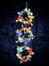 Papageienspielzeug: KLETTERKETTE, Naturholz, 70cm Gesamtlänge, 3 Ringe *Wow ***