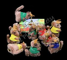 30 Australian Souvenir Keyrings Australia Kangaroo Clip On Plush Key Ring Bulk