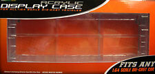 GREENLIGHT SIX CAR CONNECTING CLEAR PLASTIC DISPLAY CASE FOR 1:64 SCALE VEHICLES