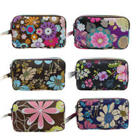 GN- Women Floral Print Cloth Wristlet Bag Coin Purse Wallet Cell Phone Pouch Che