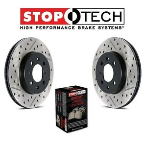 For Mini Cooper S Set of Front Drilled & Slotted Disc Brake Rotors & Sport Pads