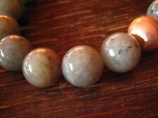 prächtiges Labradorit Kugel Collier Kette 925er Silber rosegold 17 mm Kugeln