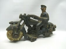 Vintage Champion Police Motorcycle Metal Toy 1930's