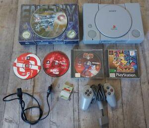 Lot 2 consoles Sony PlayStation 1 ps1 + 3 jeux + 1 manettes + 1 carte mémoire