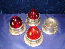 VTG Deco Travel Camper Trailer RED Lights ** 3 of 4 Lenses Classic Collectible!!
