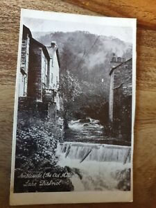 AMBLESIDE, THE OLD MILL, LAKE DISTRICT POSTCARD C1930