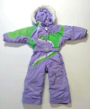 Obermeyer One Piece Hooded Snow Suit Size 3 Youth Girls I-Grow System Purple