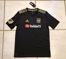 NWT ADIDAS Los Angeles FC MLS BLACK Home Jersey Youth XL