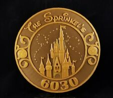 Personalized Magic Kingdom Themed Address Plaque w/ Numbers and Family Name