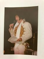 ELVIS PRESLEY AUTHENTIC RARE PHOTO ROBERT R HEIS COPYRIGHT IN CONCERT ON STAGE