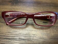 Fendi F1015R Eyeglasses Prescription Dark Brown Frames EUC Italy