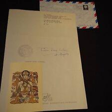 Cornelius tholens OSB Abt san Willibrord Slangenburg (NLD) signed carta 20x30