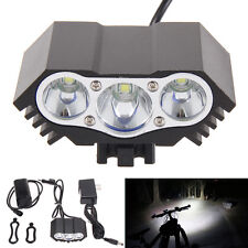 7500LM 3x CREE XML T6 LED Front Bike Bicycle Light Lamp Torch + Battery +Charger