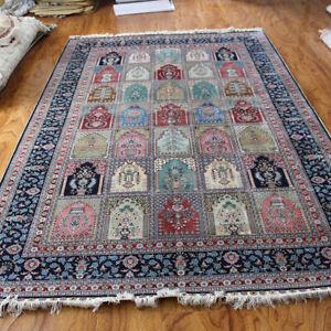 handmade silk rug carpet  6'X9' classics area rug 260line RS691