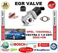 FOR OPEL VAUXHALL VECTRA C 1.9 CDTi 2002-ON Electric EGR VALVE 2-PIN with GASKET