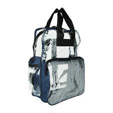 Clear Backpack Transparent Plastic Bag Kids Men & Women School Picnic Blue Pack