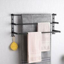 Black Towel Rail Rack Wall Mounted