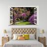 3D Purple Flowers Lawn 128 Open Windows WallPaper Murals Wall Print AJ Carly