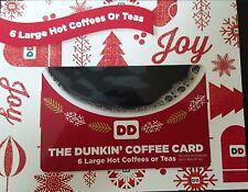 Dunkin Donuts 36 Large Hot Coffees Coffee Gift Card No expiration TAX FREE