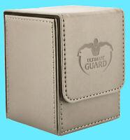 ULTIMATE GUARD LEATHERETTE FLIP 100+ SAND DECK CASE Standard Size Card Box mtg