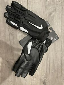 Nike D-Tack 6.0 Lineman Football Gloves Black/Silver Mens Size XXXL GF0655-937