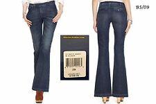POLO RALPH LAUREN $198 NEW Kaylin Wash Flare Denim Jeans Long 29 L34 QCO