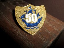 Gold 50th Blue Peter badge, New in wrapper, the best on ebay Fast Post wow !!!!